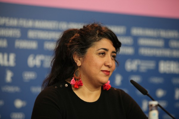 "Austrian film director Sudabeh Mortezai at the Berlinale on 14 February 2014. Mortezai presented her competition film ""Macondo""."