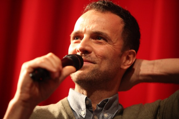 "Greek film director Athanasios Karanikolas at the Berlinale on 10 February 2014. Karanikolas presented his film ""Sto spiti"" (""At home""), which was shown in the Forum-section of the Festival."